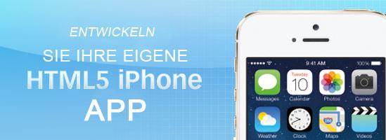 Banner zur Entwicklung von Apps für iPhone mit HTML5
